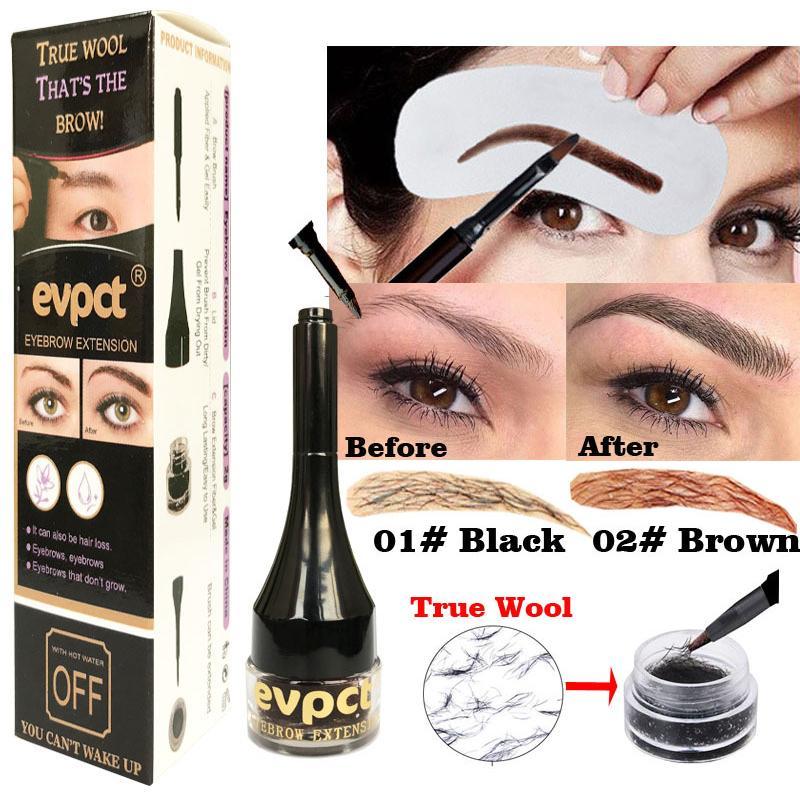 eb309da03f1 Evpct Unisex 3D Eyebrow Extensions Gel Waterproof Eyebrow Pomade Fiber  Building Brow Hair Gift Card Maquiagem TSLM2 Eyelash Extensions Beautiful  Eyebrows ...