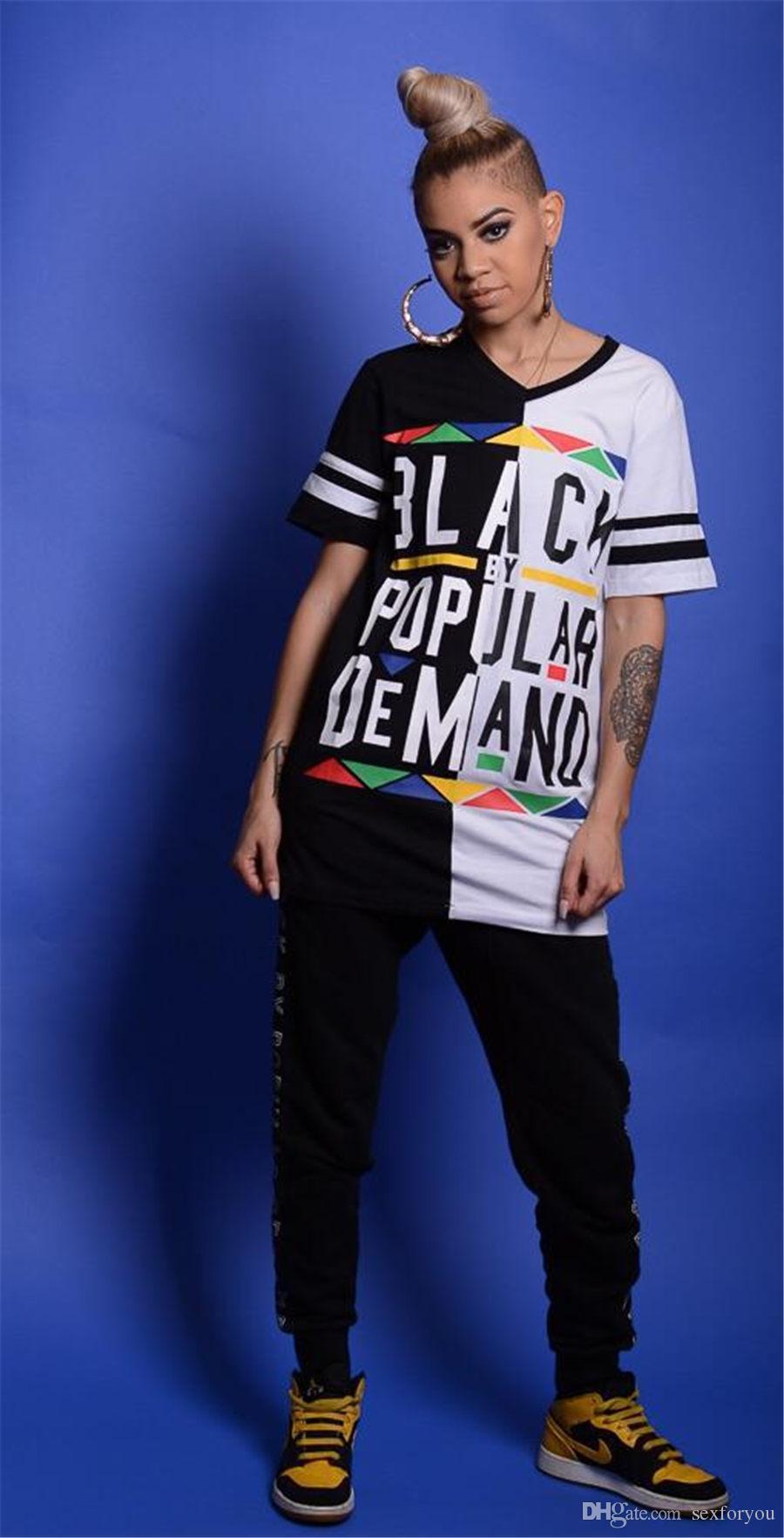 883eddab30b7ef Women T Shirt Tops Black Popular Demand Print Summer Casual Woman Shirt Top  Crew Neck Short Sleeve Print Ringer Tee Tshirts Designs T Shirt S From  Sexforyou ...