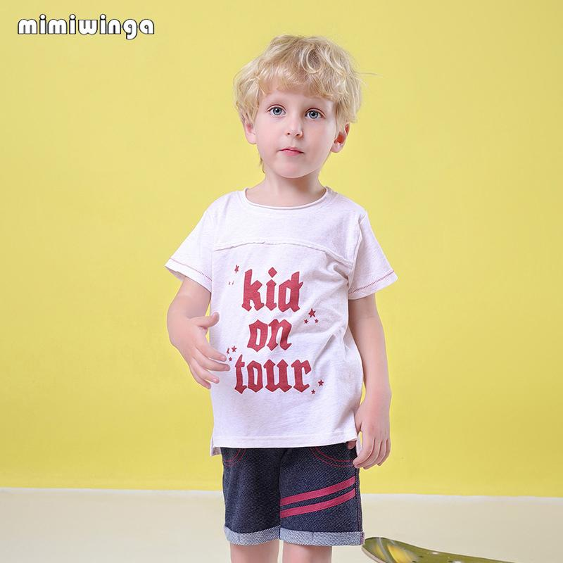 ff8360715f1bf 2019 Mimiwinga Letter Print Summer Kids Clothes Set 1 5 Years T Shirts  Shorts Boys Casual Sport Suits Children Clothing From Windowplant, $20.93 |  DHgate.