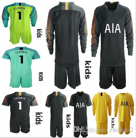 e66c8c0f6da 2019 2018 2019 Soccer Jersey KIDS #1 LLORIS KANE LAMELA ERIKSEN DELE SON  Jersey Football Long Sleeve Kit Shirt KIDS Goalkeeper Uniforms Set From  Zhuhao2, ...