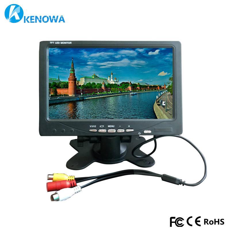 aca74b08c Compre 7 Pulgadas 1024x600 Industrial Coche Reversa De Reserva Retrovisor  TFT LCD Monitor 2 Pantalla De Entrada AV Monitores De Computadora PC  Seguridad ...