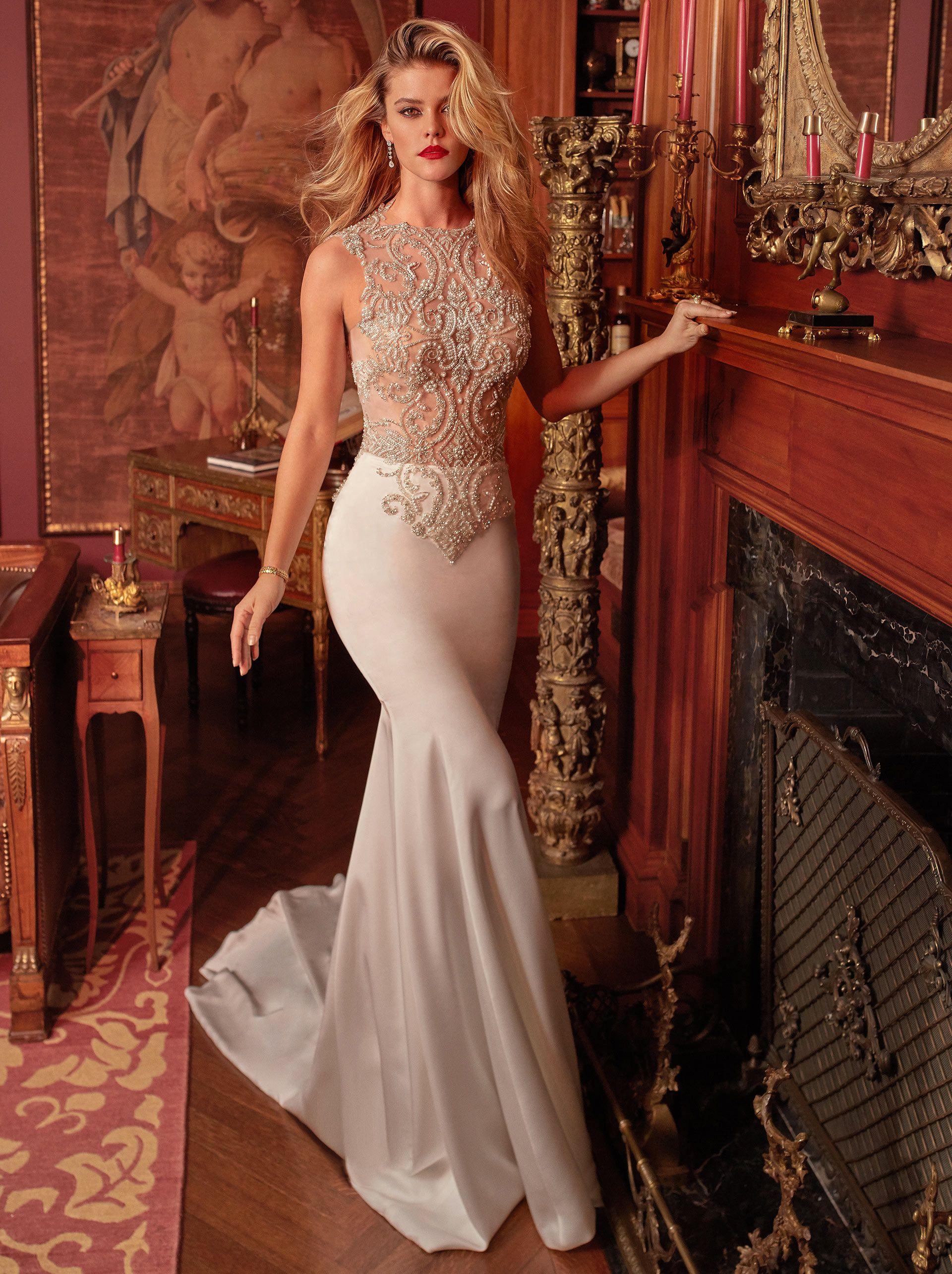949a7f41f0 Luxury Crystal Wedding Dresses Sparkly Bead Mermaid Wedding Dress Bridal  Gowns Plus Size Bride Formal Gown Vestido De Novia Beaded Mermaid Wedding  Dress ...