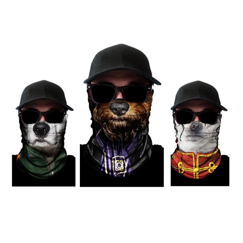 721ddbcb2bc 2019 3D Animal Ski Cycling Snowboard Scarf Neck Warmer Face Mask Balaclava Bandana  Bike Mask From Gqinglang