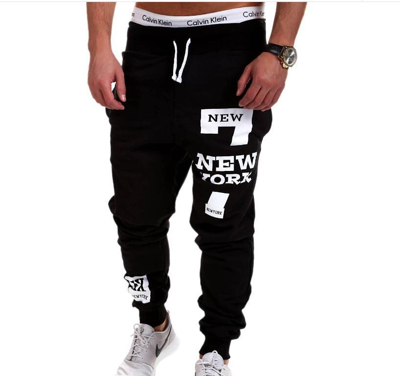 High Brand High Quality Men Casual Sweatpants Male Jogger Pants Skinny Fashion New York Letter Printed Men ' ;S Trousers Sports Free Sh