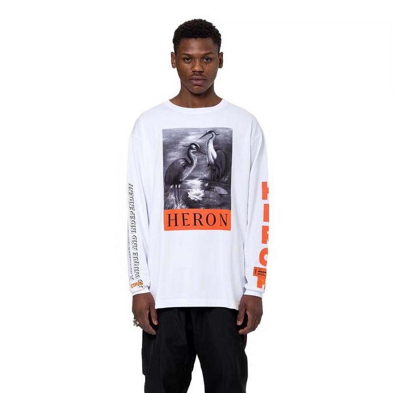 Heron Preston men's sweater Deng Ziqi with the crane crane long-sleeved T-shirt high street loose men and women couples bottoming sweatshirt