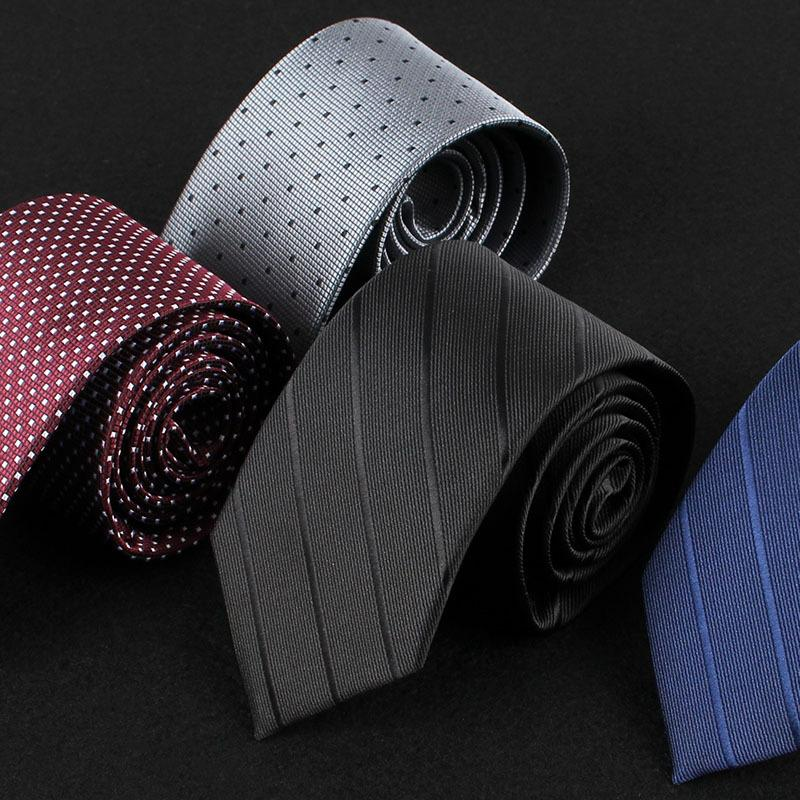 Professional dress business men's tie width 7cm polyester fabric tie  Manufacturers wholesale custom printed LOGO