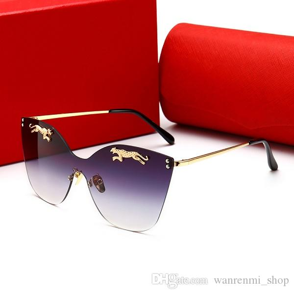 00112 High quality Brand Designer Fashion Mirror Men Women Polit Coating Sunglasses UV400 Vintage Sport Sun glasses With box