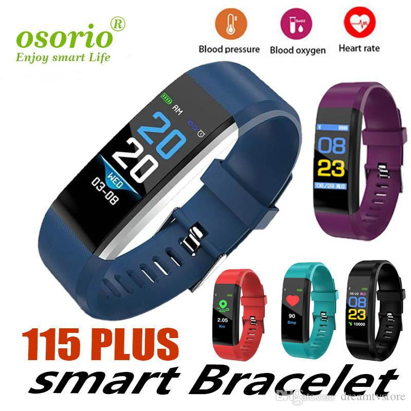 ID115 Plus Smart Bracelet Fitness Tracker Girl Smart Watch Heart Rate Watchband Smart Wristband For Apple Android Cellphones with Box
