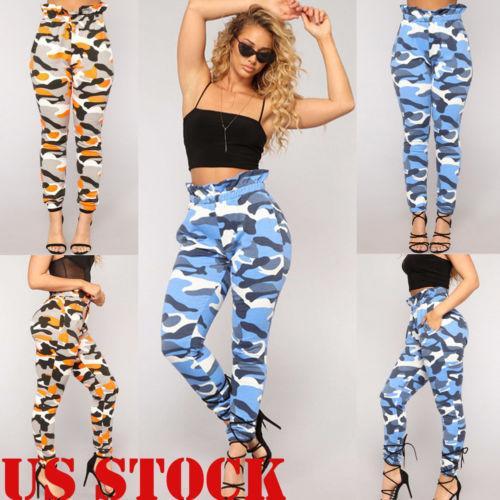 d11ce49fcf Pantaloni militari Jeans 2018 Nuove donne Camo Pantaloni cargo Pantaloni  casual Army Combat Camouflage Nuovo