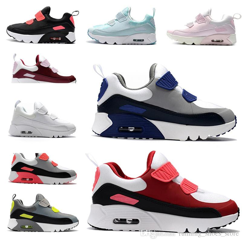 9a9ebdeee0450 2019 90s Children S Athletic Shoes Presto 90 II Kids Run Shoes Black White Baby  Infant Sneaker Children Sports Shoes Girls Boys Youth Trainers From ...