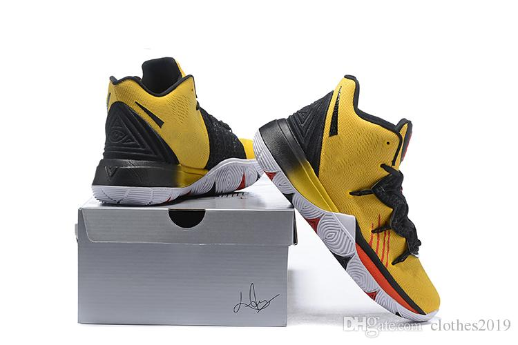 online store cc569 5b56b 2019 New Arrival Men Kyrie 5 Bruce lee Basketball Shoes Irving 5S V  Sneakers Sports Trainers Ourdoor Shoes