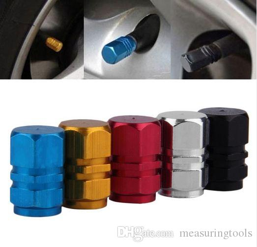 4pcs Road Bicycle Valve Cap Aluminium Alloy Motor Bike Car Valve Cap Mouth Cover Tyre Wheel Rims Stem Air Valve Dust Cap