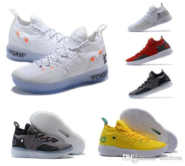 bd4c1c400f0f Cheap 2018 Basketball Shoes All Star Black White BHM University Red City  Series Top Quality KD 11 Men Basketball Shoes Sneakers Best Quality