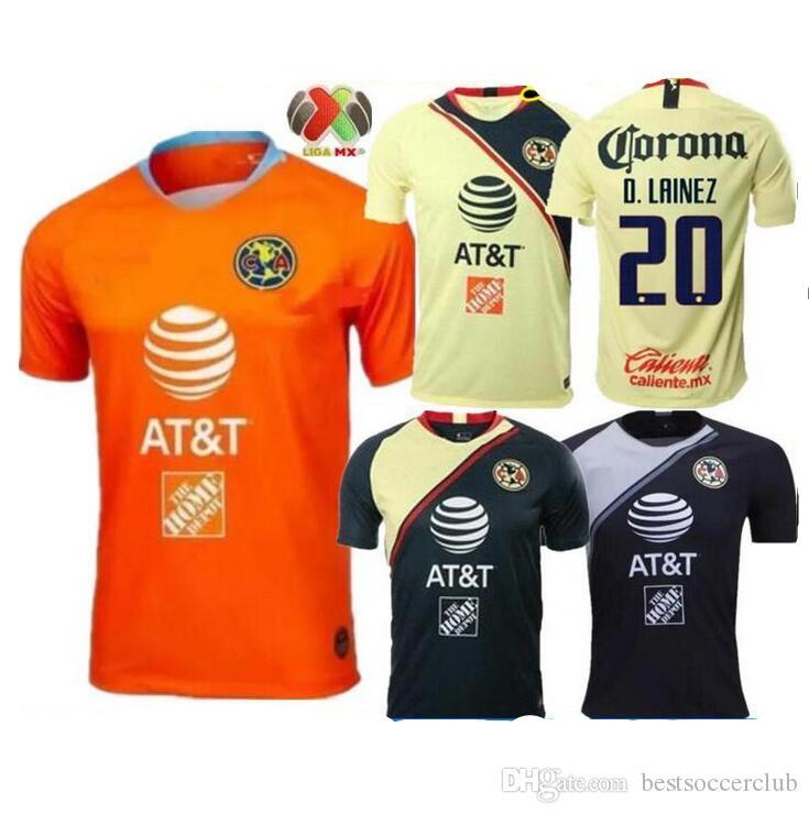 06c57beaadd85 2018 2019 Club De Futbol América Casa Fútbol Jersey 18 19 Club De Futbol  América Camiseta De Fútbol Personalizada México Uniforme De Fútbol Club Por  ...