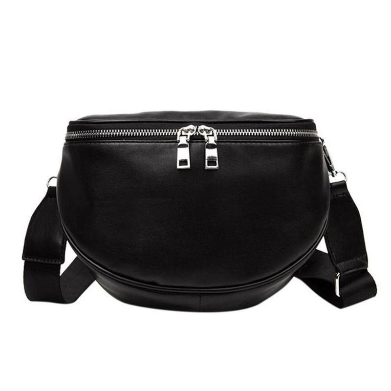 5b18a89cfa Women Leather Waist Chest Bags Fashionable Casual Belt Shoulder Zipper Crossbody  Messenger Chest Bag For Women Girls Sports Bags Designer Bags Ladies ...