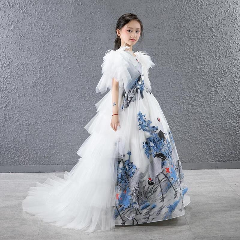 dc85102ca350 2019 Chinese Wind Girl Princess Skirt