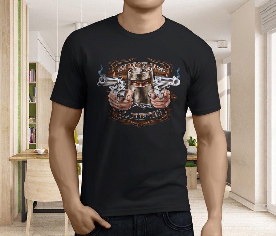 New Popular Ned Kelly Outlaw Legend Bike Rider Mens Black T Shirt