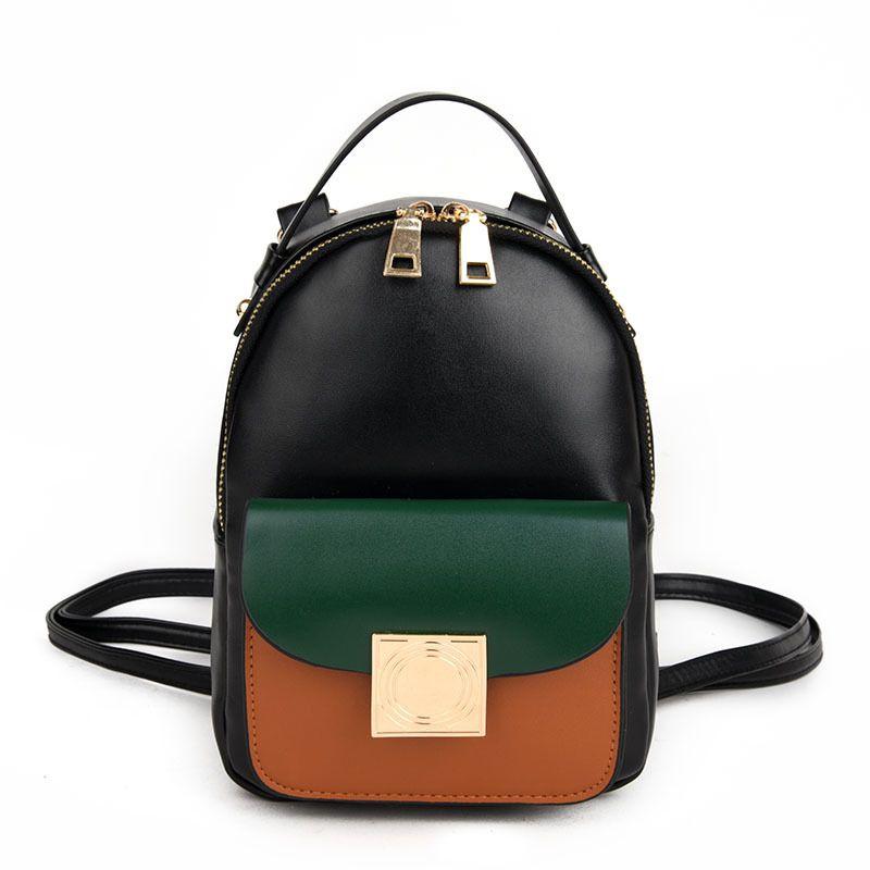 da5fdcd79c2 2019 Fashion New Female Bag College Wind High Quality Pu Leather Women  Backpack Korean Mini Backpack Design Shoulder Bags Girl