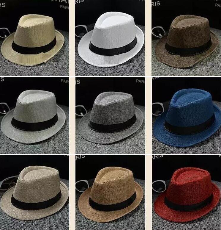 cae6befc1f6 Fashion Men Women Soft Fedora Panama Hats Cotton Linen Straw Caps ...