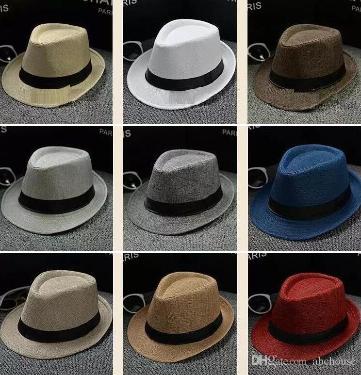 Compre Moda Hombre Mujer Suave Fedora Panamá Sombreros Algodón   Lino Gorras  De Paja Sombrero De Ala Al Aire Libre Picantes Sombreros Playa De Primavera  ... ce7bee33ccf