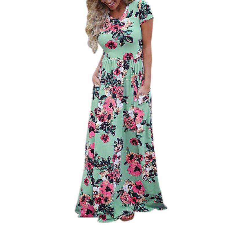 Vestidos largos florales otono 2019
