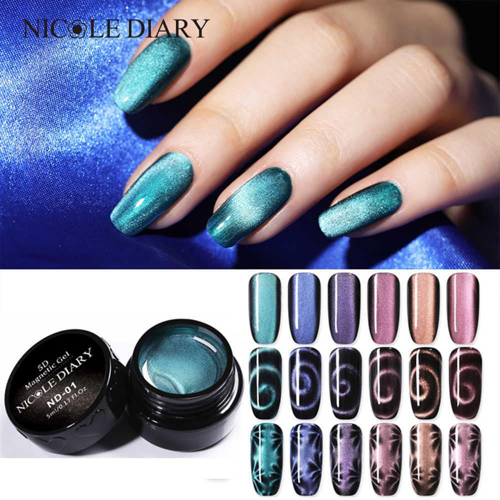 Magnetic 5d Cat Eye Uv Gel Nail Polish Laser Nail Art Varnish Starry ...