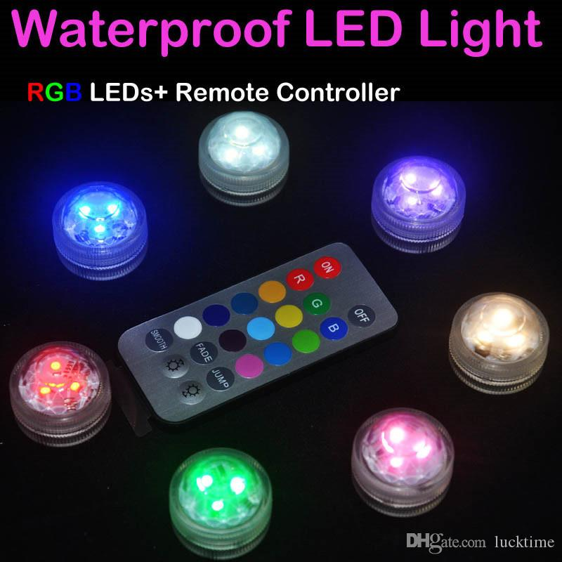 quality design 8df7c 465c4 Colorful Waterproof LED Aquarium Light Candle Lamp Fish Tank Decoration  Submersible LED Lights remote controller Underwater Lights 1PC