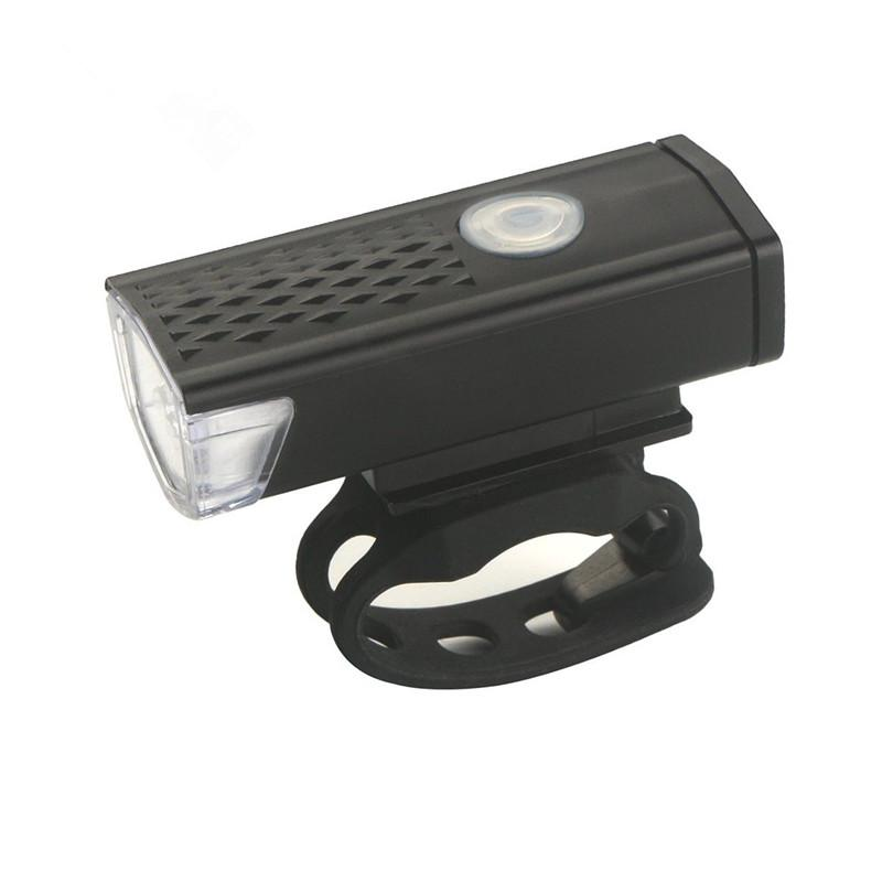 Rechargeable USB 300lm LED Bicycle Bike Lamp MTB Front Bicycle Cycling Light Headlight Headlamp Bike Bycicle Light