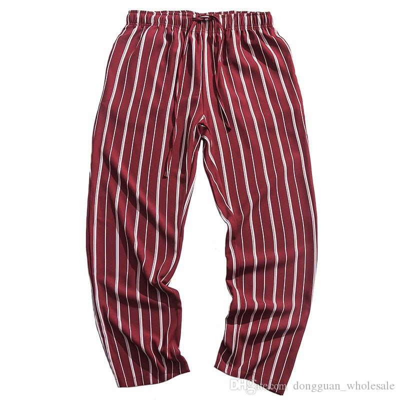 2019 Hip Hip Men Jogger Pantalón Retro Vintage Harajuku Baggy Sweatpant Streetwear Red Harem Pants Track Sweat Pantalones Thin