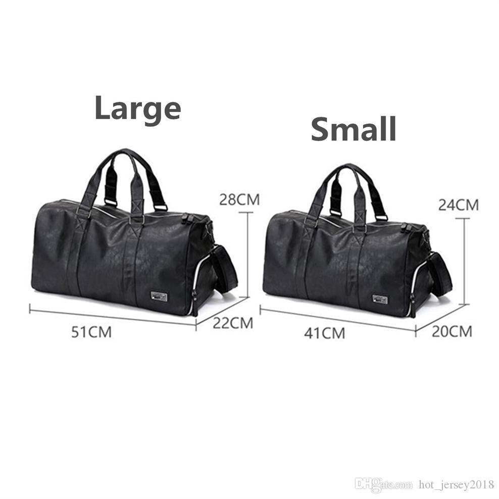 Gym Bags Hot Pu Leather Outdoor Male Female Sports Gym Bag Waterproof Travel Handbag Fitness Shoulder Bags Training Yoga Duffel Bag Cheap Sales Sports Bags