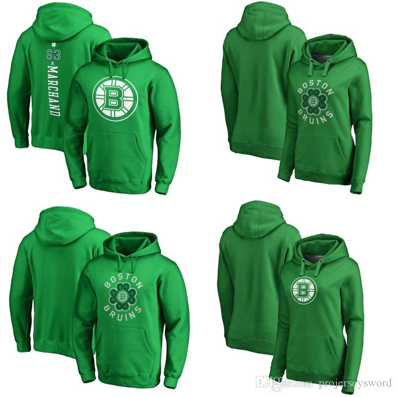 cheaper 8a172 e2f40 Boston Bruins Green St. Patrick s Day Luck Tradition Pullover Hoodie 13  Charlie Coyle 33 Zdeno Chara 17 Ryan Donato Hockey Jerseys