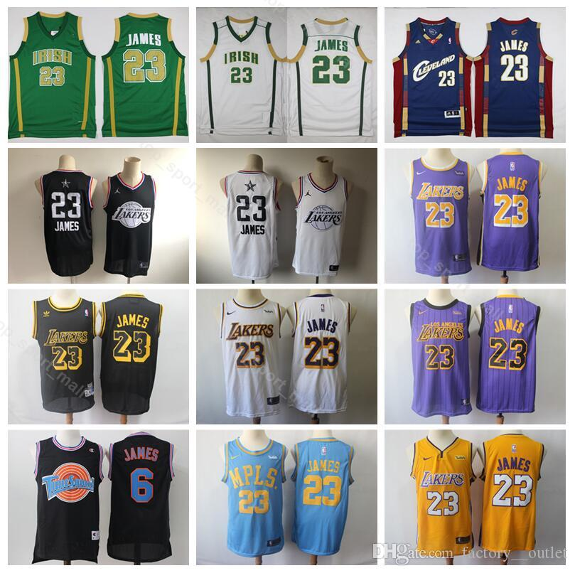 wholesale dealer 96ab1 00ef8 2019 All Star LeBron 23 James Jersey Men Los Angeles Basketball Lakers St.  Vincent Mary High School Irish MPLS City Edition Looney Tunes