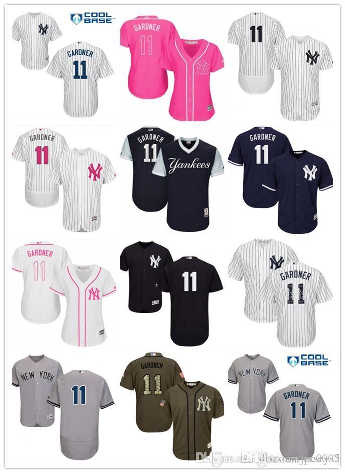 online store bbb67 993b8 2019 top Yankees Jerseys #11 Brett Gardner Jerseys men#WOMEN#YOUTH#Men s  Baseball Jersey Majestic Stitched Professional sportswear