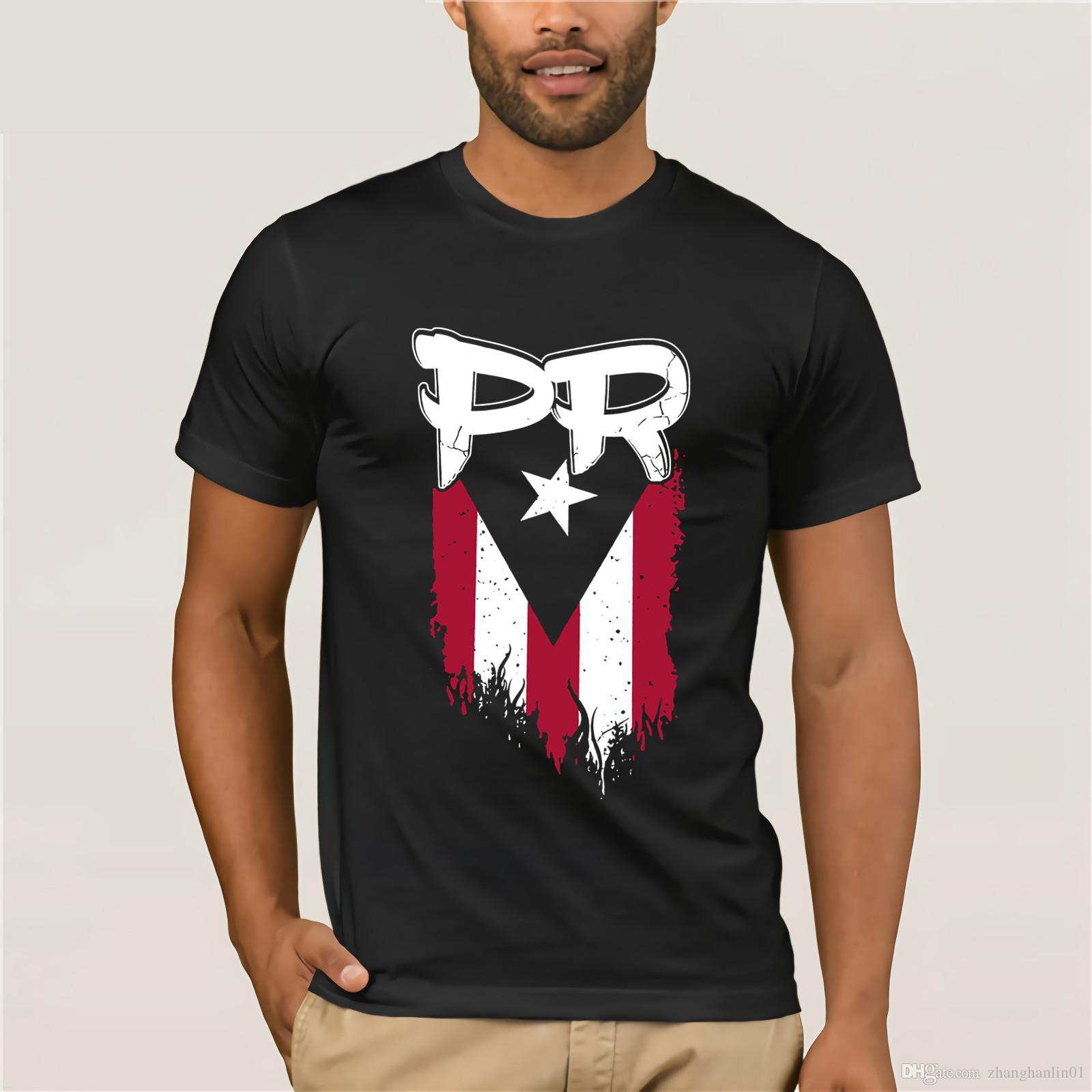 0a0eda8ebcc Mens Male Puerto Rico Flag Pr Premium Tee T Shirt A Team Shirts Be T Shirts  From Zhanghanlin01