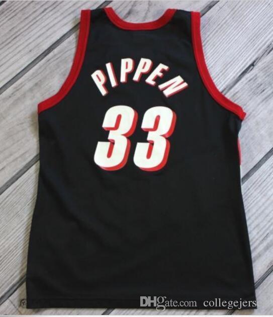 save off 3bb66 12d60 NCAA Mens Cheap Scottie Pippen Jersey #33 Black Stitching Adult t-shirt  basketball jerseys