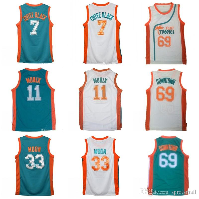 2019 Movie Semi Pro Flint Tropics Jersey  7 Coffee Black  69 Downtown Jersey  Stitched   33 Jackie Moon  11 ED Monix Basketball Jerseys From Sprotsmall ce538c37c