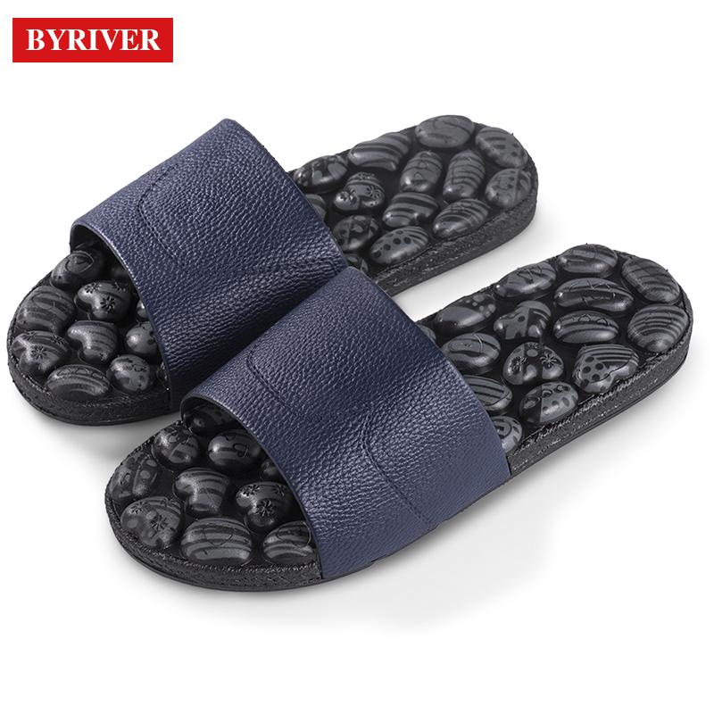 67a436d4c Wholesale Soft Refelxology Foot Massage Slippers Sandals Indoor Home Shower  Shoes Relief Plantar Faciitis Plastic Pebble Massager Online with   47.2 Piece on ...