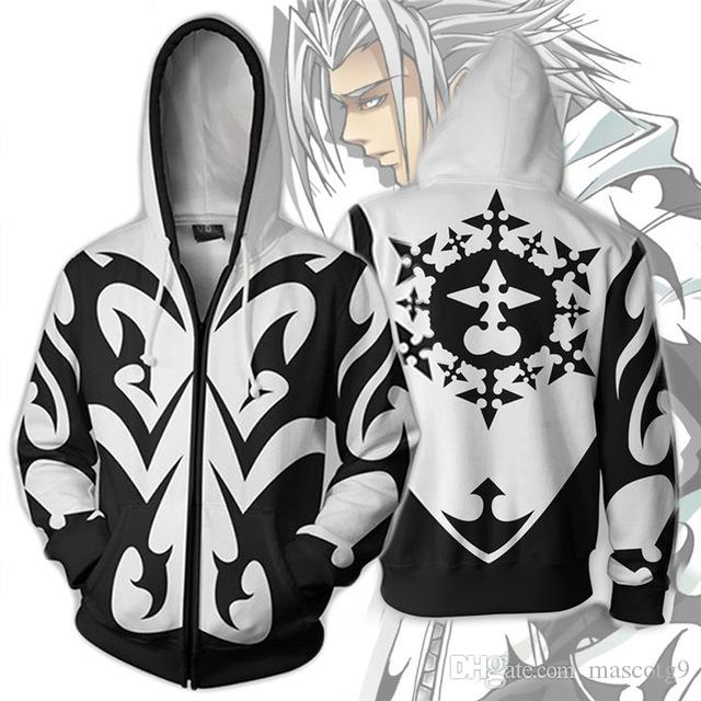 30f23a2e8 Game Kingdom Hearts Xemnas Cosplay Costumes Zipper Hoodies Sweatshirts 3D  Printing Unisex Adult Clothing Cute Halloween Costumes School Girl Costume  From ...