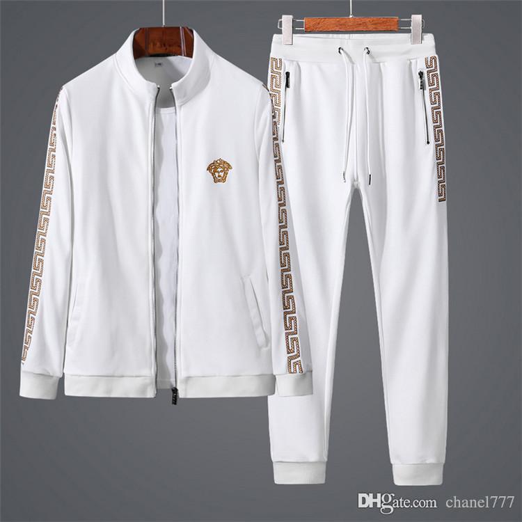 836f55d0bcbd Осень зима Европа Италия звезды мода мужчины Спорт толстовка с длинными  рукавами ...