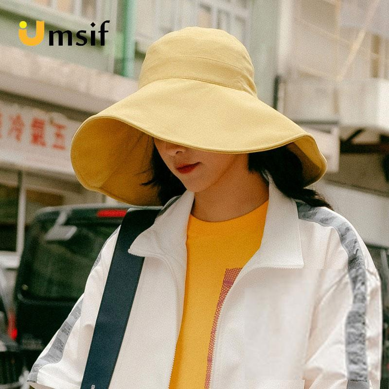 Solid Color Wide Brim Panama Hat For Women 2019 New Summer Female Fashion  Hip Hop Shade Bucket Hats Women S Casual Sun Hat Cap Bucket Hats Bucket Hat  From ... ead444367c6