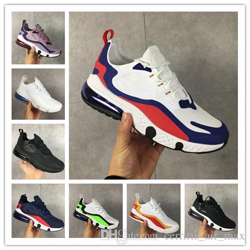 Hot Sale React Luxury Running Shoes Bauhaus Optical Violet Electro Hyper Jade Chalk Lagoon Brand Design Breathable Sports Sneakers Trainers