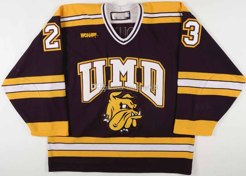buy online 216e3 4e96d Rare 2000's Tim Stapleton U of Minnesota-Duluth Hockey Jersey Embroidery  Stitched Customize any number and name Jerseys
