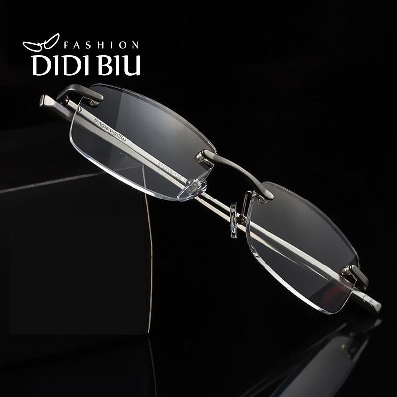 10c7a60c801 DIDI Rectangl Reading Glasses Men Rimless Aluminum Eye Glasses Frame For  Women Optical Glasses Diopters 1.0 To 3.5 HH010 Online with  20.24 Piece on  ...