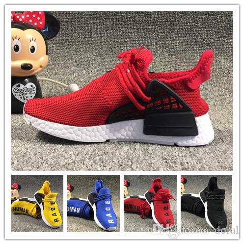 3fec3521ad4c3 Hot Sale Human Race Kids Running Shoes Pharrell Williams Sample ...