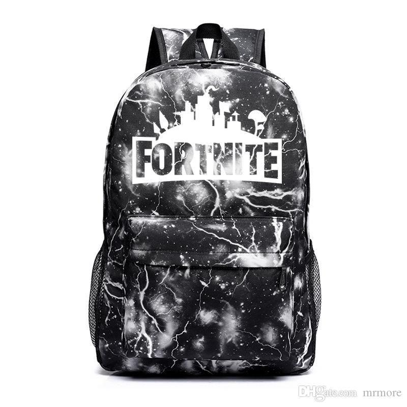2019 Fortnite Night Luminous Sports Backpacks Fortnite