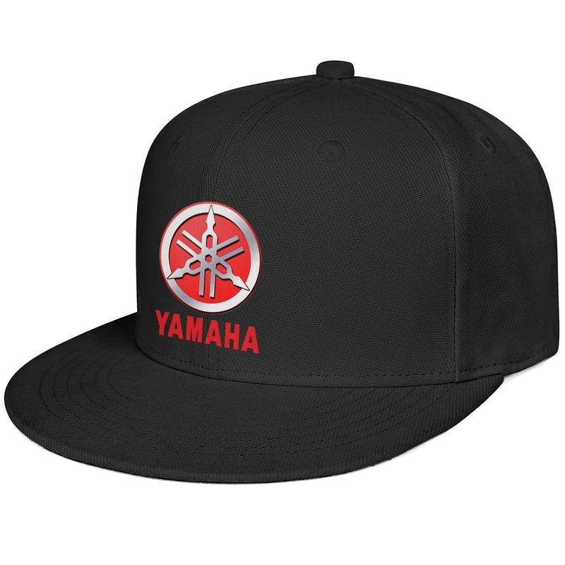 Womens Mens Washed Flat-along Adjustable Yamaha Motorcycle logo Hip-Hop Cotton Dad Hats Golf Flat Top Hat Bucket Hat Airy Mesh Hats For Men