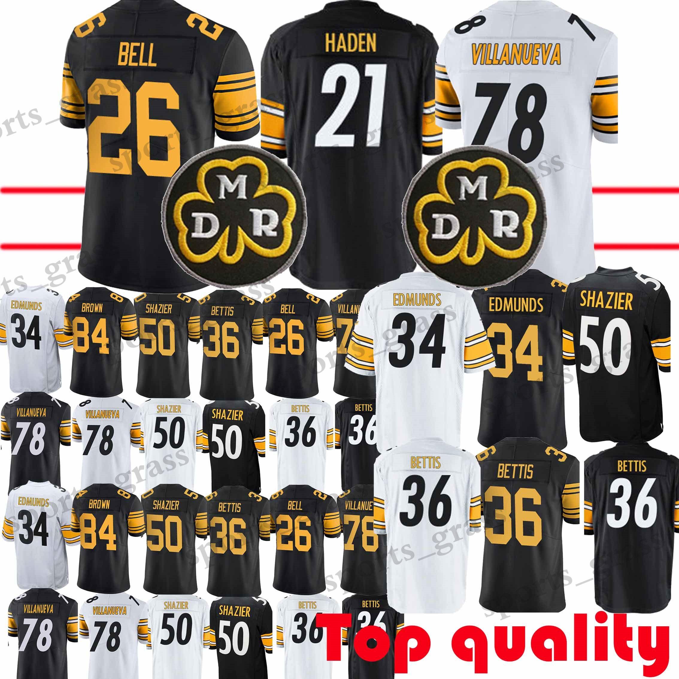 best service 46820 34783 26 Le Veon Bell 34 Terrell Edmunds Pittsburgh Steeler Jersey 50 Ryan  Shazier 21 Joe Haden 78 Villanueva Jerseys promotion