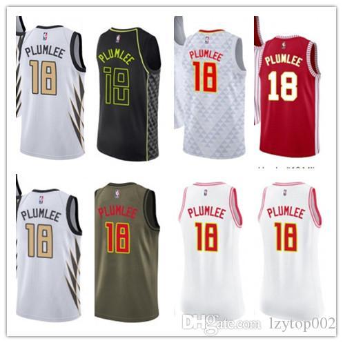 new arrival 697b1 11888 2019 custom Men/WOMEN/youth Atlanta Hawk jersey 18 Miles Plumlee basketball  jerseys free ship size s-xxl message name number