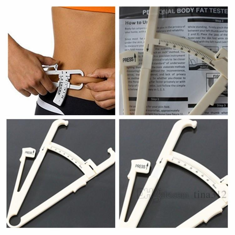 New Personal Body Fat Loss Tester Calculator Caliper Fitness Fat clip  Measurement Tool Fat measuring calipersT2F5001