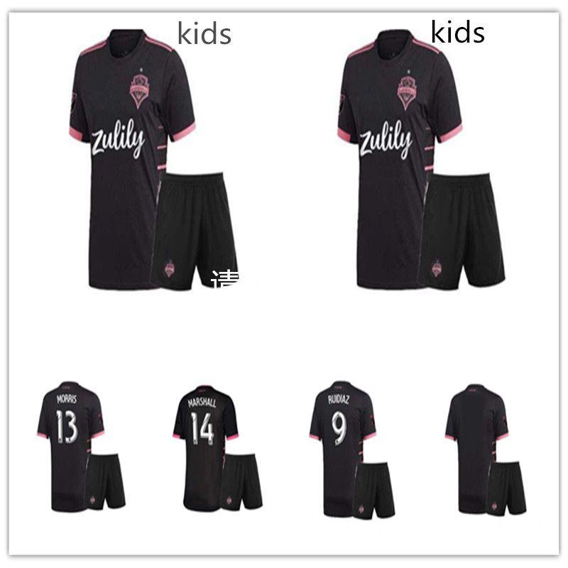 official photos f343c 42582 men kids kit 2019 2020 Seattle Sounders FC AWAY Soccer Jersey 19 20 MLS  RUIDIAZ MORRIS LODEIRO MARSHALL Football Shirt